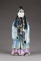 Kinesisk figur föreställande Fu xing en av de tre taoistiska stjärngudarna för lycka - Hallwylska museet - 95995.tif