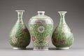 Kinesiska vaser från 1800-talet med lotusblommor - Hallwylska museet - 95841.tif