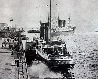 SS King Orry (1871) - King Orry at the Pier Head, Liverpool.