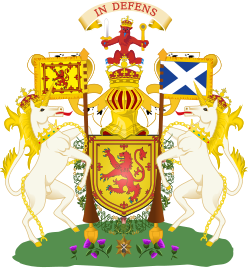 The Royal Coat of Arms of Scotland, as used before 1603