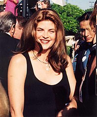 Kirstie Alley w 1994 r. Gala Emmy Awards
