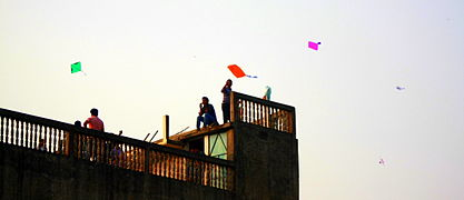 Kite festival at Shakrain.JPG