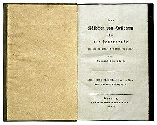 <i>Das Käthchen von Heilbronn</i> literary work