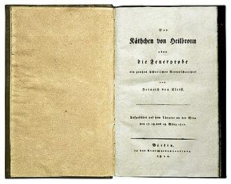 Das Käthchen von Heilbronn - First edition 1810