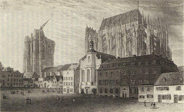 Koeln Dom + St. Johann Evangelist 1824