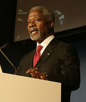University of Geneva - Kofi Annan, UNIGE alumnus, Nobel Peace Prize in 2001