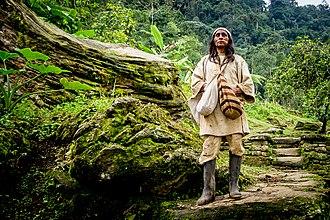 Kogi people - A portrait of a Koguis shaman at Ciudad Perdida, Colombia.