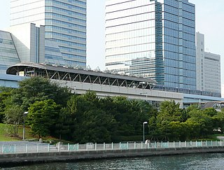 Tokyo Big Sight Station railway station in Koto, Tokyo, Japan