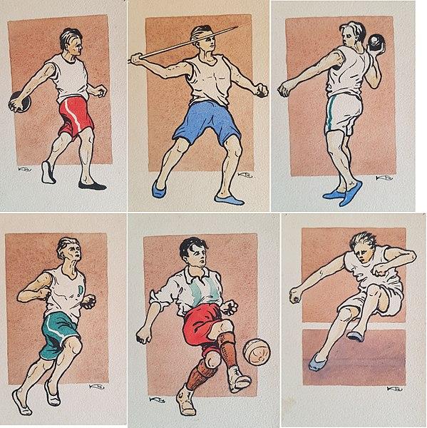 File:Kollage OS 1912 Stockholm illustrationer av KEO Karl Emil Ohlsson.jpg