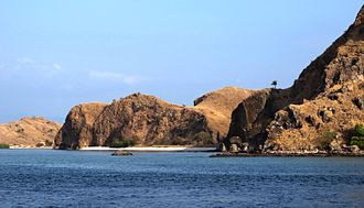 Komodo National Park - The rugged terrain of Komodo Island with few trees makes it one of the driest locations in Indonesia.