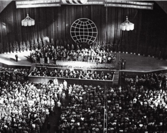 World Peace Council - Session of the World Congress of Intellectuals for Peace in Wrocław in 1948