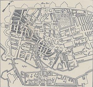 Copenhagen Fire of 1795 - Map of Copenhagen Fire of 1795