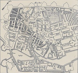Copenhagen Fire of 1795 - Map of Copenhagen Fire of 1795