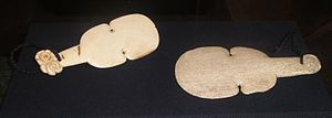 Kotiate - Two kotiate, made from whalebone.