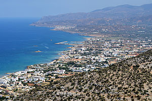 Malia, Crete - Malia and bay of Malia