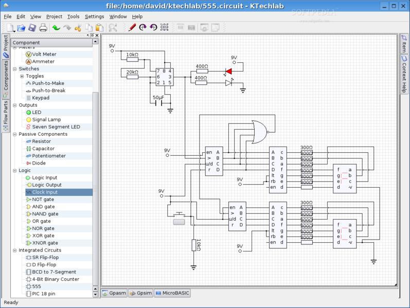 KTechlab - Simulacion Electronica en Linux