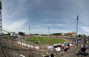 Kurt-Wabbel-Stadion - Kurt-Wabbel-Stadion during a Hallescher FC match in 2009
