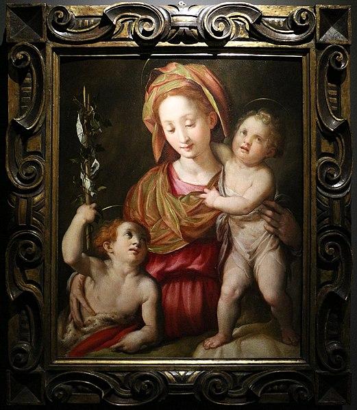 File:L'empoli, madonna col bambino e san giovannino.JPG