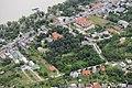 Lábatlan, Gerenday-kert és a hajókikötő légi fotón.jpg