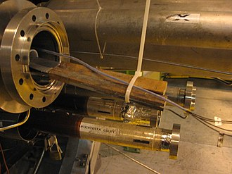 Niobium–titanium - Nb-Ti wires coming out of an LHC dipole magnet.