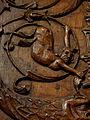 La Guerche-de-Bretagne (35) Basilique Stalle 01 Dorsal 03.JPG