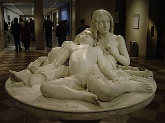Marble sculpture - Lorenzo Bartolini, (Italian, 1777–1850), La Table aux Amours (The Demidoff Table), Metropolitan Museum of Art, New York City, Marble sculpture