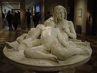 Marble sculpture - Lorenzo Bartolini, (Italian, 1777–1850), La Table aux Amours (The Demidoff Table), Metropolitan Museum of Art, New York City, Marble sculpture