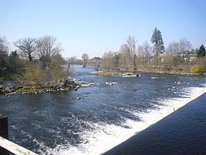 Chabanais - The Vienne River close to the bridge