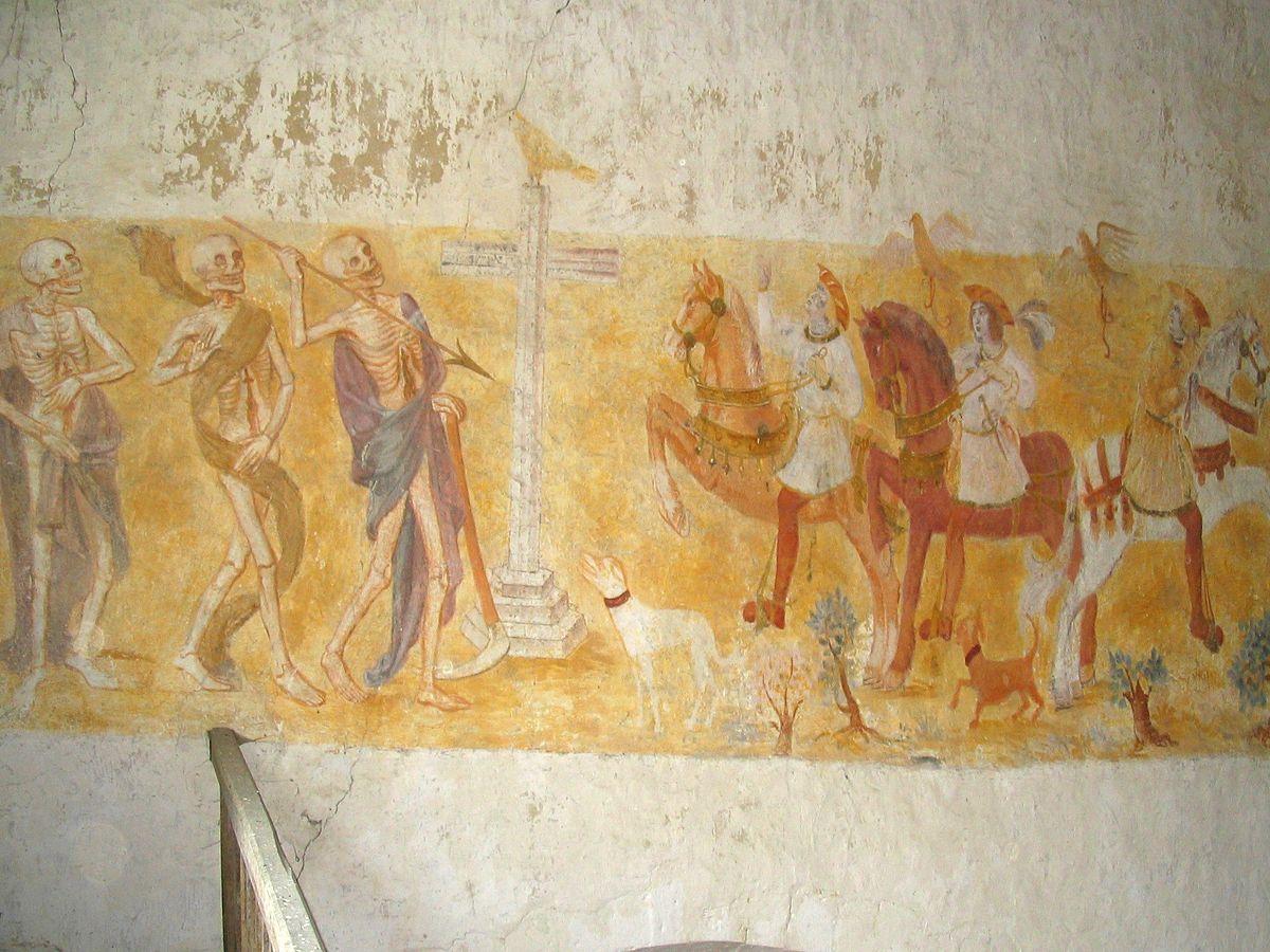 Dict des trois morts et des trois vifs wiktionnaire for Fresque murale definition