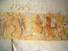 Fresque du «Dict des trois morts et des trois vifs