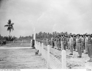 Labuan War Cemetery - Image: Labuan War Cemetery Opening, 1945