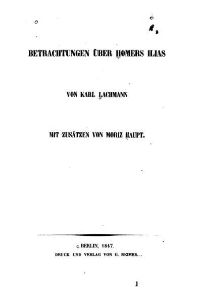File:Lachmann Betrachtungen über Homers Ilias.djvu