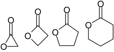 α-, β-, γ-, δ-Lactona.