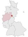 Lage des Kreises Höxter in Deutschland 1974.png