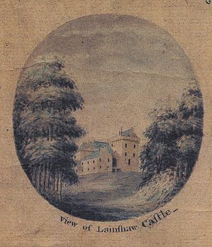 Murder of Hugh Montgomerie - Lainshaw Castle in the 17th century