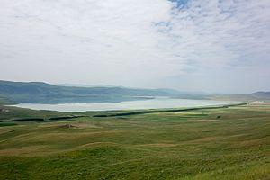 Kartsakhi Lake - View of the lake from the Georgian side