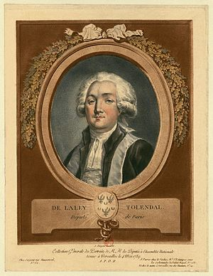 Gérard de Lally-Tollendal - Marquis de Lally-Tollendal, deputy to the Estates-General of 1789