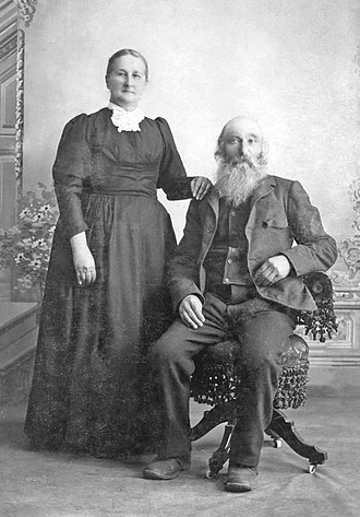 "Hermantown, Minnesota - Lambert ""Pat"" Acker and his wife, Emelie Louisa Wilke"