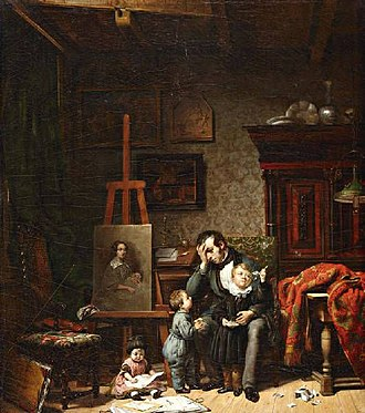 Lambertus Johannes Hansen - Image: Lambertus painter and children