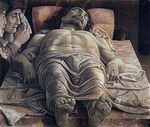 Pinacoteca di Brera - Image: Lamentación sobre Cristo muerto, por Andrea Mantegna