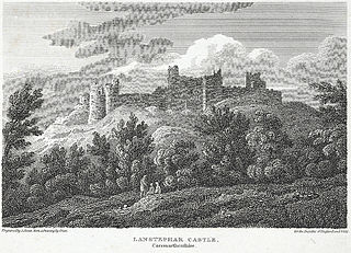 Lanstephar Castle, Caermarthenshire