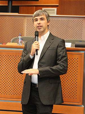 Larry Page, co-founder of Google, in the Europ...