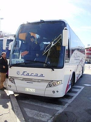 Lasta Beograd - A Lasta bus in Split, Croatia.
