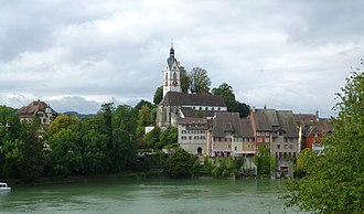Laufenburg, Aargau - The old town viewed from the German side