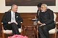 Laurent Fabius, French Minister of Foreign Affairs and International Development, meets PM Modi.jpg
