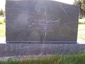 LeGrand Richards - Grave marker rear side