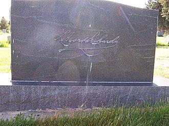 LeGrand Richards - Grave marker rear side