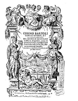 Cosimo Bartoli - Le piante, le provincie, le prospettive, e tutte le altre cose terrene, 1564