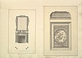 Leaf from Aedes Walpolianae mounted with two drawings- (a)- Salon Chimney, Houghton Hall, Norfolk, Elevation; (b)- Salon Ceiling, Houghton Hall, Norfolk MET DP829085.jpg