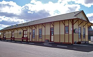 Lebanon, Oregon - Former railroad station in downtown
